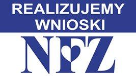 logo NFZ, Narodowy Fundusz Zdrowia, realizujemy wnioski, Proteza kosmetyczna palców, Protetica, Łódź, Zagajnikowa 35, poradnia protetyczna